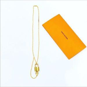 Louis Vuitton Lock & Key Necklace